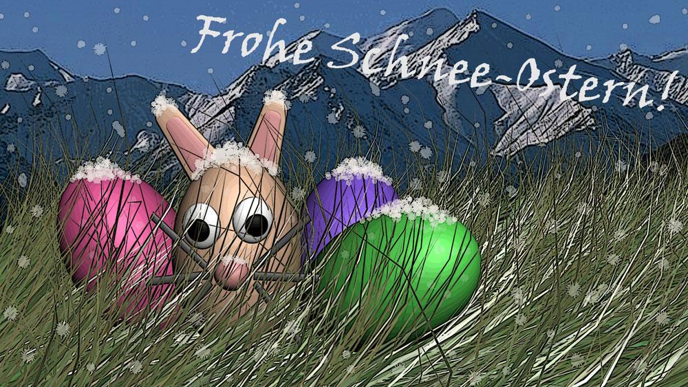 Mehr Welten wünscht Frohe Schnee-Ostern!