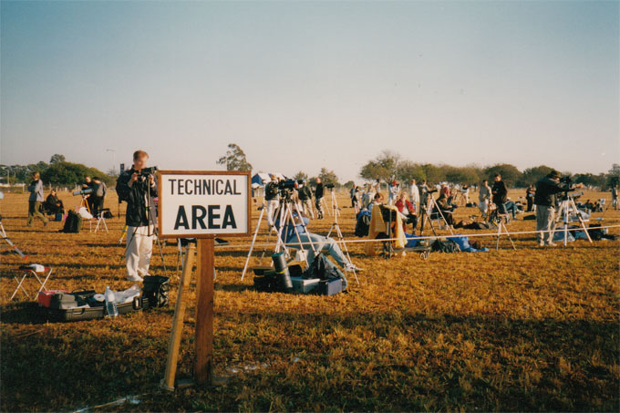 Sonnenfinsternis in Sambia 2001